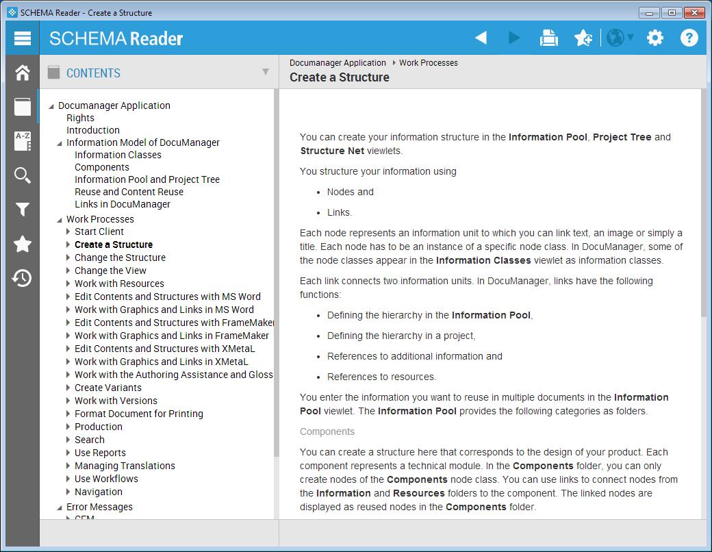 SCHEMA Reader Screenshot