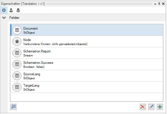 Alle für den PAN AM benötigten Felder im Workflow Designer